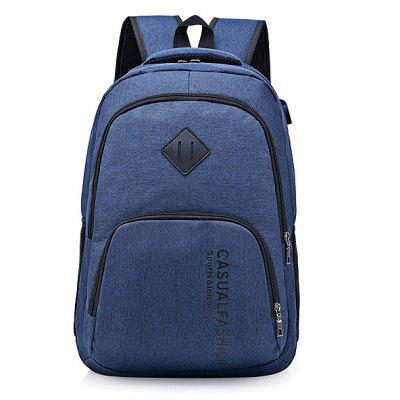 Large Capacity Backpack with External USB Charging Jack