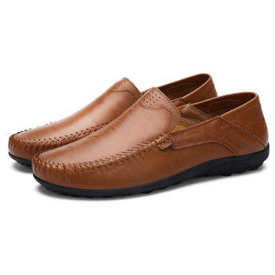 Solid Hand-crafted Breathable Doug Shoes for Men