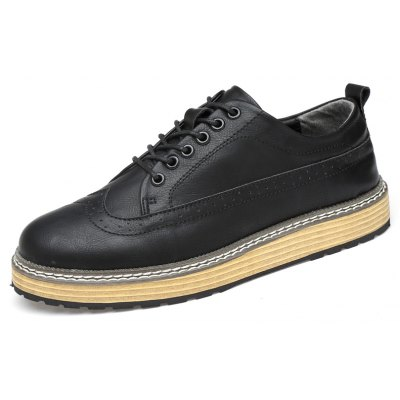 Fashion Carve Pattern Leisure Shoes for MenCasual Shoes<br>Fashion Carve Pattern Leisure Shoes for Men<br><br>Closure Type: Lace-Up<br>Contents: 1 x Pair of Shoes<br>Function: Slip Resistant<br>Materials: Rubber, PU<br>Occasion: Casual<br>Outsole Material: Rubber<br>Package Size ( L x W x H ): 33.00 x 22.00 x 11.00 cm / 12.99 x 8.66 x 4.33 inches<br>Package Weights: 0.87kg<br>Pattern Type: Solid<br>Seasons: Autumn,Spring<br>Style: Casual<br>Type: Flat Shoes<br>Upper Material: PU