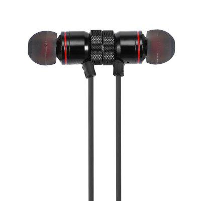 SH01 Metal Magnetic Bluetooth Sports EarbudsEarbud Headphones<br>SH01 Metal Magnetic Bluetooth Sports Earbuds<br><br>Application: Sport<br>Battery Capacity(mAh): 100mAh<br>Battery Type: Built-in<br>Bluetooth: Yes<br>Bluetooth distance: W/O obstacles 10m<br>Bluetooth mode: Headset<br>Bluetooth protocol: A2DP,AVRCP,HFP,HSP<br>Bluetooth Version: V4.1<br>Charging Time.: 2h<br>Compatible with: Mobile phone<br>Connecting interface: Micro USB, 3.5mm<br>Connectivity: Wireless<br>Features: Portable, Cool<br>FM radio: No<br>Frequency response: 8-20KHz<br>Function: Voice Prompt, Answering Phone, Bluetooth, Voice control, Song Switching<br>Impedance: 16ohms ± 15 percent<br>Language: Chinese,English<br>Material: Plastic, TPU<br>Model: SH01<br>Music Time: 4 - 6h<br>Package Contents: 1 x Earbuds, 1 x USB Power Cable, 2 x Pair of Earbud Tips, 1 x English Manual<br>Package size (L x W x H): 17.50 x 10.00 x 3.10 cm / 6.89 x 3.94 x 1.22 inches<br>Package weight: 0.1020 kg<br>Plug Type: USB<br>Product size (L x W x H): 65.00 x 1.00 x 1.00 cm / 25.59 x 0.39 x 0.39 inches<br>Product weight: 0.0014 kg<br>Sensitivity: 90dB<br>Standby time: 18h<br>Talk time: 4.6h<br>Type: In-Ear<br>Wearing type: In-ear with neckband