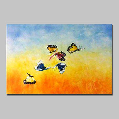 Buy COLORMIX Mintura MT160654 Hand Painted Butterfly Canvas Oil Painting for $53.90 in GearBest store