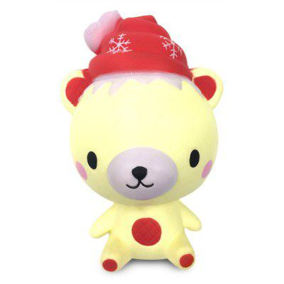 Slow Rising Squishy Toy with Cartoon Christmas Bear Style