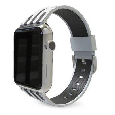 Trendy Stripe Silicone Watchband for 38mm Apple Watch