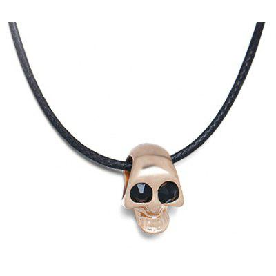 Fashion Necklace with Skull Head Design Pendant