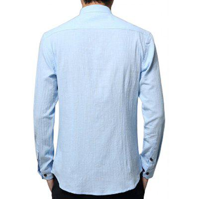 Male Simple Pure Color Elegant Shirt with Chest PocketMens Shirts<br>Male Simple Pure Color Elegant Shirt with Chest Pocket<br><br>Package Contents: 1 x Shirt<br>Package size: 35.00 x 25.00 x 2.00 cm / 13.78 x 9.84 x 0.79 inches<br>Package weight: 0.2700 kg<br>Product weight: 0.2500 kg