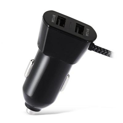 HFC12 Intelligent Fast Charging Double USB Car ChargerCar Charger<br>HFC12 Intelligent Fast Charging Double USB Car Charger<br><br>Apply To Car Brand: Universal<br>Cable length: 1M<br>Color: Black<br>Input ( Car Charger ): 12 - 24V<br>Material ( Cable&amp;Adapter): ABS<br>Output ( Car Charger ): 5V 2.4A / 5V 2.4A<br>Package Contents: 1 x Suction Holder, 1 x Car Charger, 1 x Box<br>Package size (L x W x H): 15.60 x 9.10 x 2.60 cm / 6.14 x 3.58 x 1.02 inches<br>Package weight: 0.0530 kg<br>Product size (L x W x H): 3.10 x 2.80 x 5.10 cm / 1.22 x 1.1 x 2.01 inches<br>Product weight: 0.0330 kg<br>Working Temp.(?): 0 - 70 Deg.C