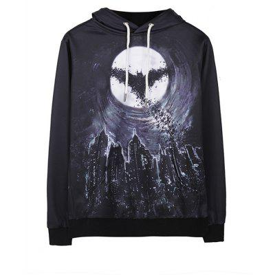 Batman Print Off-shoulder Halloween Hoody