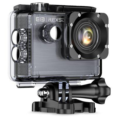 Elephone REXSO Explorer X Action Camera 4K 30fps HDAction Cameras<br>Elephone REXSO Explorer X Action Camera 4K 30fps HD<br><br>Battery Capacity (mAh): 900mAh<br>Battery Type: Built-in<br>Brand Name: Elephone<br>Charge way: USB charge by PC<br>Charging Time: 2.5h<br>Chipset: Allwinner V3<br>Chipset Name: Allwinner<br>Image Format: JPG<br>Lens Diameter: 17.4MM<br>Max External Card Supported: TF 128G (not included)<br>Model: Explorer X<br>Package Contents: 1 x Explorer X Camera, 1 x Waterproof Case, 1 x USB Cable, 1 x Helmet Mount<br>Package size (L x W x H): 13.00 x 13.00 x 13.00 cm / 5.12 x 5.12 x 5.12 inches<br>Package weight: 0.4500 kg<br>Product size (L x W x H): 6.00 x 4.20 x 3.00 cm / 2.36 x 1.65 x 1.18 inches<br>Product weight: 0.0660 kg<br>Screen resolution: 320x240<br>Screen size: 2.0inch<br>Standby time: 3h<br>Time Stamp: Yes<br>Type: Sports Camera<br>Type of Camera: 4K<br>Video format: MP4<br>Video Frame Rate: 120fps,30FPS,60FPS<br>Video Resolution: 1080P ( 1920 x 1080 ) ( 30fps ),1080P ( 1920 x 1080 ) 60fps,2.7K ( 2688 x 1520 ) 30fps,4K ( 3840 x 2160 ) 30FPS,720P ( 1280 x 720 ) ( 120fps?,720P ( 1280 x 720 ) ( 30fps ),720P ( 1280 x 720 ) ( 60fps<br>Water Resistant: 30m ( with the waterproof case )<br>Waterproof: Yes<br>Waterproof Rating: IP68 ( with the waterproof case )<br>Wide Angle: 170 degree wide angle<br>WIFI: Yes<br>WiFi Distance: 10m<br>Working Time: 1080P( 30fps ) 110mins