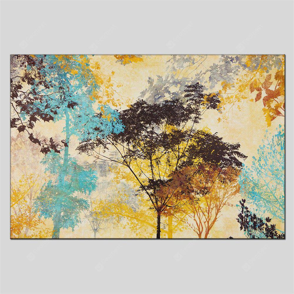 Hua Tuo Modern Canvas Oil Painting Abstract Trees Wall Art - $53.52 ...