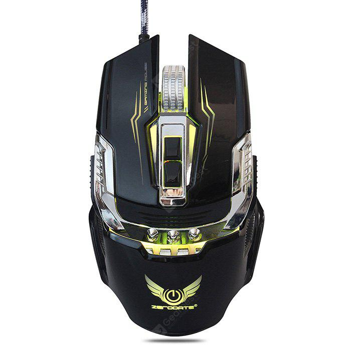 BLACK ZERODATE X900 Wired Gaming Mouse Breathing LED Setting