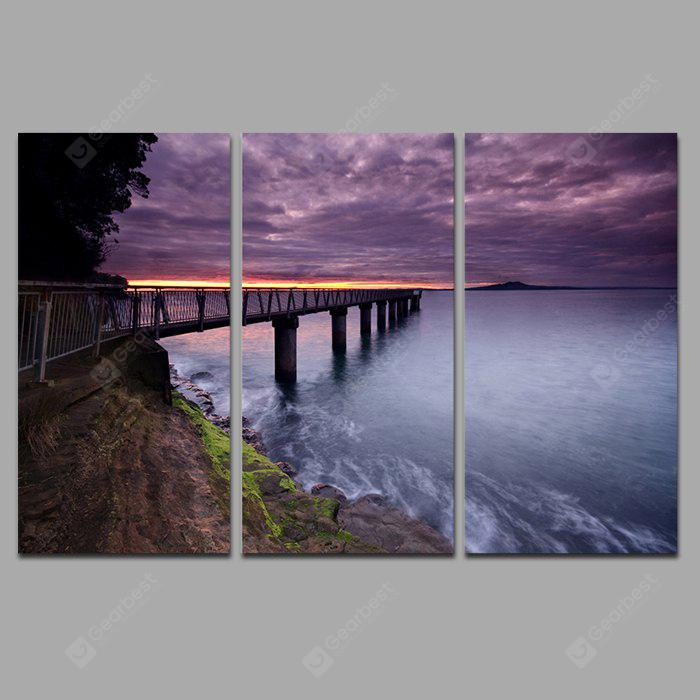 COLORMIX JOY ART 0088 Stretched Modern Bridge Canvas Print 3PCS