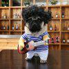 Cute Pet Costume Guitar Player Style Dog Cat Party Outfit Suit - WHITE + BLUE