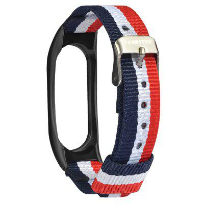 Tri-color Stripe Replacement Wristband for Xiaomi Mi Band 2Smart Watch Accessories<br>Tri-color Stripe Replacement Wristband for Xiaomi Mi Band 2<br><br>Compatible with: Xiaomi Mi Band 2<br>Material: Canvas<br>Package Contents: 1 x Wristband<br>Package size: 9.00 x 12.00 x 1.00 cm / 3.54 x 4.72 x 0.39 inches<br>Package weight: 0.0170 kg<br>Product size: 23.50 x 1.80 x 0.50 cm / 9.25 x 0.71 x 0.2 inches<br>Product weight: 0.0170 kg
