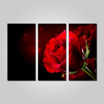 Buy COLORMIX JOY ART Red Rose Print Framed Canvas Painting 3PCS for $44.23 in GearBest store
