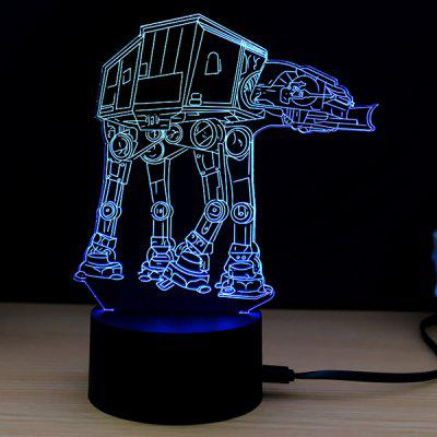 M.Sparkling 3D Creative Barevné USB Powered Night Lamp