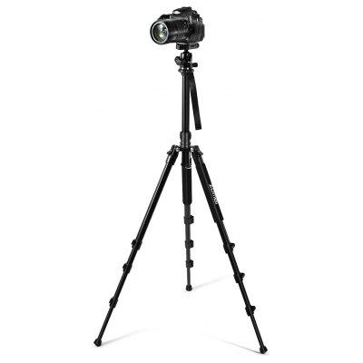 Buy BLACK Zomei Q555 Portable Photography Tripod with Ball Head for $65.55 in GearBest store