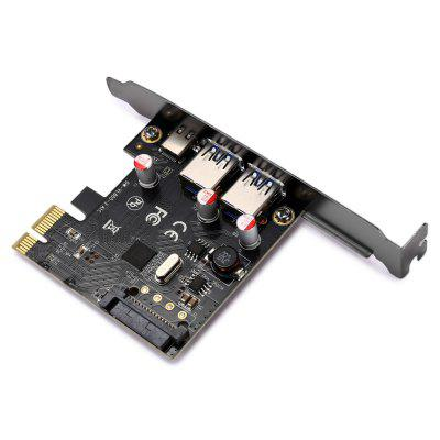 2A1C USB 3.1 PCI Expansion Card 2 External USB PortsPCI Cards<br>2A1C USB 3.1 PCI Expansion Card 2 External USB Ports<br><br>Material: Plastic<br>Model: 2A1C<br>Package Contents: 1 x PCI Expansion Card, 1 x CD<br>Package size (L x W x H): 14.50 x 11.00 x 3.00 cm / 5.71 x 4.33 x 1.18 inches<br>Package weight: 0.0680 kg<br>Product size (L x W x H): 12.00 x 7.00 x 1.80 cm / 4.72 x 2.76 x 0.71 inches<br>Product weight: 0.0410 kg