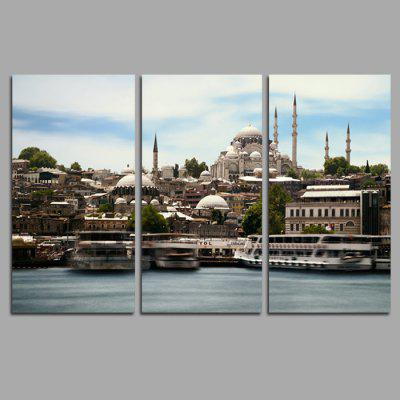 Buy COLORMIX JOY ART City Scenery Print Framed Canvas Painting 3PCS for $44.23 in GearBest store