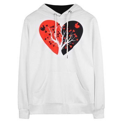 Buy WHITE M Fashion Pattern Printed Long Sleeves Female Hoodie for $21.14 in GearBest store