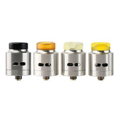 Original WISMEC Guillotine RDARebuildable Atomizers<br>Original WISMEC Guillotine RDA<br><br>Brand: Wismec<br>Material: Stainless Steel<br>Model: Guillotine<br>Package Contents: 1 x WISMEC Guillotine RDA, 1 x English User Manual<br>Package size (L x W x H): 8.00 x 6.00 x 4.00 cm / 3.15 x 2.36 x 1.57 inches<br>Package weight: 0.0850 kg<br>Product size (L x W x H): 3.50 x 2.80 x 2.80 cm / 1.38 x 1.1 x 1.1 inches<br>Product weight: 0.0330 kg<br>Type: Rebuildable Drippers, Rebuildable Atomizer