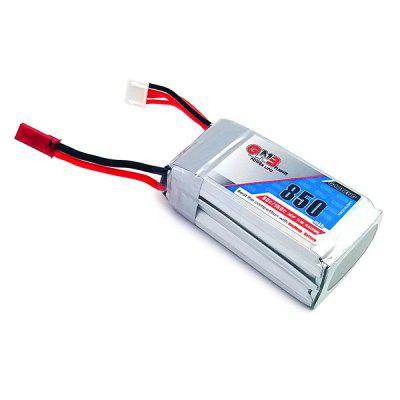 11.1V 850mAh 80C LiPo Battery with JST XH-4P PlugBattery<br>11.1V 850mAh 80C LiPo Battery with JST XH-4P Plug<br><br>Package Contents: 1 x Battery<br>Package size (L x W x H): 4.50 x 5.10 x 7.90 cm / 1.77 x 2.01 x 3.11 inches<br>Package weight: 0.0850 kg<br>Product size (L x W x H): 2.50 x 3.10 x 5.90 cm / 0.98 x 1.22 x 2.32 inches<br>Product weight: 0.0750 kg<br>Type: Battery