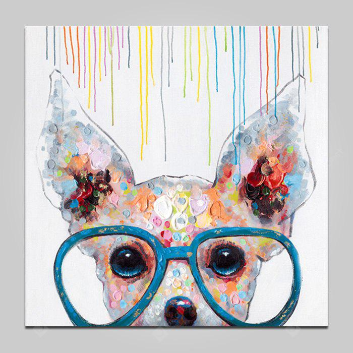 COLORMIX YHHP Glasses Dog Wall Decor Print