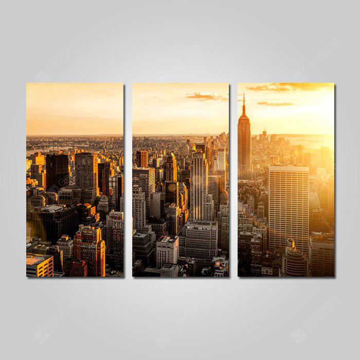COLORMIX JOY ART 0083 Canvas New York City View Print 3PCS