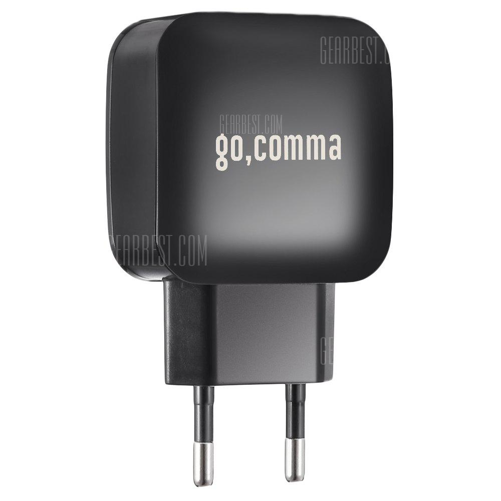 Gocomma QC 3.0 Power Adapter Charger - BLACK EU PLUG - ДЛЯ НОВЫХ ПОКУПАТЕЛЕЙ