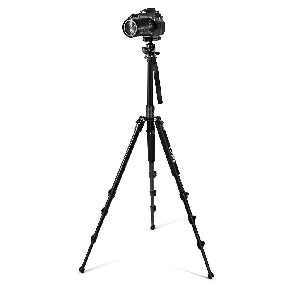 BLACK Zomei Q555 Portable Photography Tripod with Ball Head