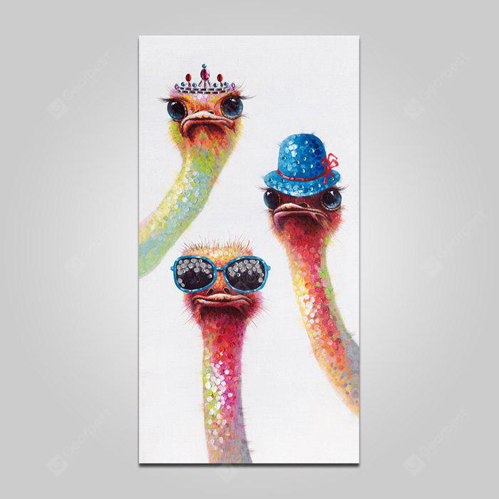 COLORMIX LARGE YHHP Animal Cute Three Birds Canvas Print