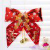Christmas Decorations Supplies Big Bowknot Hangings - RED