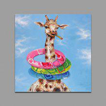 YHHP Giraffe Pattern Canvas Oil Painting Decorative Picture