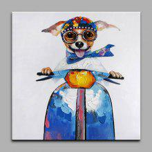 YHHP Hand-painted Dog Canvas Oil Painting Decoration
