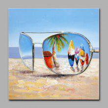 YHHP Sunglasses Canvas Oil Painting Decoration
