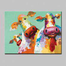 Mintura MT160673 Hand Painted Cow Oil Painting