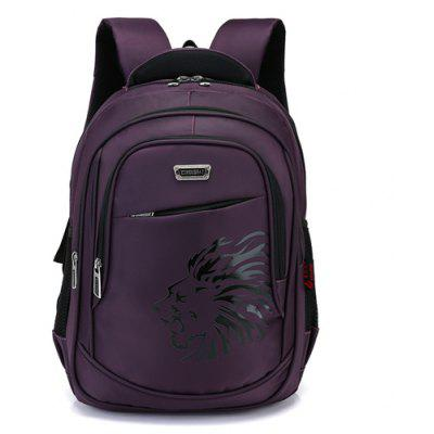 Buy PURPLE Men Durable Business Solid Color Laptop Backpack for $27.29 in GearBest store