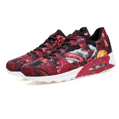 Male Soft Light Cusion Printed Skateboarding Casual Sneakers
