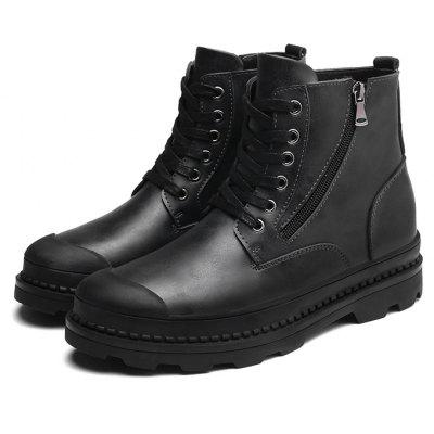 Buy BLACK 43 Male Trendy Soft Thick Soled Casual High Top Martin Boots for $38.99 in GearBest store