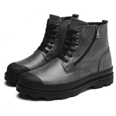Buy GRAY 43 Male Trendy Soft Thick Soled Casual High Top Martin Boots for $38.99 in GearBest store