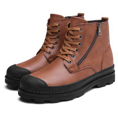Buy BROWN 38 Male Trendy Soft Thick Soled Casual High Top Martin Boots for $38.99 in GearBest store