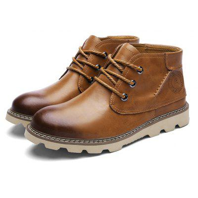 Male Nostalgic Brush Color Ankle Top Casual Martin Boots