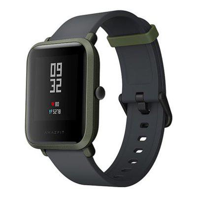 Original Xiaomi Huami AMAZFIT SmartwatchSmart Watches<br>Original Xiaomi Huami AMAZFIT Smartwatch<br><br>Band material: Silicone<br>Battery  Capacity: 190mAh<br>Bluetooth calling: Phone call reminder<br>Bluetooth Version: Bluetooth 4.0<br>Brand: Xiaomi<br>Case material: Polycarbonate<br>Compatible OS: Android, IOS<br>Health tracker: Heart rate monitor,Sleep monitor<br>IP rating: IP68<br>Messaging: Message reminder<br>Operating mode: Press button<br>Package Contents: 1 x Smartwatch, 1 x Charging Cable<br>Package size (L x W x H): 5.00 x 5.00 x 5.00 cm / 1.97 x 1.97 x 1.97 inches<br>Package weight: 0.2070 kg<br>People: Female table,Male table<br>Product size (L x W x H): 19.50 x 3.50 x 0.80 cm / 7.68 x 1.38 x 0.31 inches<br>Product weight: 0.0320 kg<br>Shape of the dial: Rectangle<br>Type of battery: Lithium-ion polymer battery<br>Waterproof: Yes