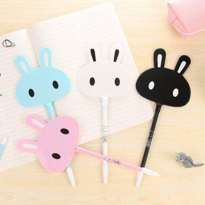 Cartoon Rabbit Fan Shape Gel Ballpoint Pen 12pcs