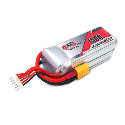 LiPo Battery with XT60 Plug 18.5V 1300mAh 110CBattery<br>LiPo Battery with XT60 Plug 18.5V 1300mAh 110C<br><br>Package Contents: 1 x Battery<br>Package size (L x W x H): 5.50 x 5.40 x 10.60 cm / 2.17 x 2.13 x 4.17 inches<br>Package weight: 0.1950 kg<br>Product size (L x W x H): 3.50 x 3.40 x 8.60 cm / 1.38 x 1.34 x 3.39 inches<br>Product weight: 0.1850 kg<br>Type: Battery