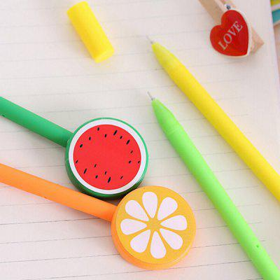 Student Smooth Fruit Fast Drying Black Gel Ink Pen 12pcs