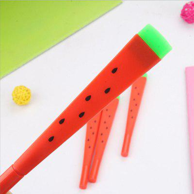 Fruit Watermelon Shape 0.5mm Black Gel Pen 12pcs