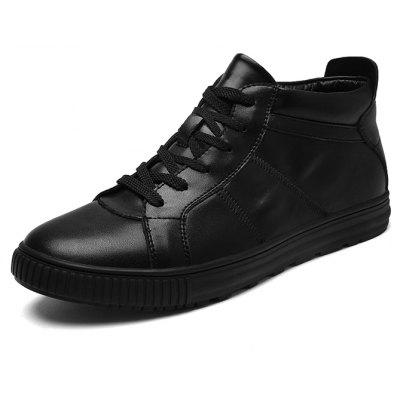 Male Nostalgic Ankle Top Light Casual Skateboarding SneakersMen's Sneakers<br>Male Nostalgic Ankle Top Light Casual Skateboarding Sneakers<br><br>Closure Type: Lace-Up<br>Contents: 1 x Pair of Shoes, 1 x Box, 1 x Dustproof Paper<br>Function: Slip Resistant<br>Materials: Leather, Rubber<br>Occasion: Running, Shopping, Sports, Tea Party, Riding, Rainy Day, Casual, Daily, Holiday, Outdoor Clothing, Party<br>Outsole Material: Rubber<br>Package Size ( L x W x H ): 33.00 x 22.00 x 11.00 cm / 12.99 x 8.66 x 4.33 inches<br>Package Weights: 0.85kg<br>Pattern Type: Solid<br>Seasons: Autumn,Spring,Winter<br>Style: Modern, Leisure, Fashion, Comfortable, Casual<br>Toe Shape: Round Toe<br>Type: Sports Shoes<br>Upper Material: Leather