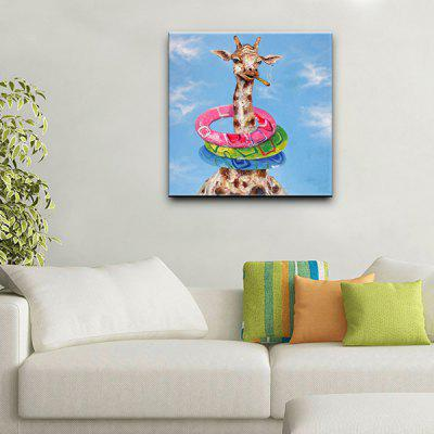 YHHP Giraffe Pattern Canvas Oil Painting Decorative PictureOil Paintings<br>YHHP Giraffe Pattern Canvas Oil Painting Decorative Picture<br><br>Brand: YHHP<br>Craft: Oil Painting<br>Form: One Panel<br>Material: Canvas<br>Package Contents: 1 x Oil Painting<br>Package size (L x W x H): 102.00 x 102.00 x 5.00 cm / 40.16 x 40.16 x 1.97 inches<br>Package weight: 3.0000 kg<br>Painting: Include Inner Frame<br>Product size (L x W x H): 100.00 x 100.00 x 3.00 cm / 39.37 x 39.37 x 1.18 inches<br>Product weight: 1.4000 kg<br>Shape: Square<br>Style: Cute<br>Subjects: Animal<br>Suitable Space: Bedroom,Cafes,Dining Room,Hotel,Living Room,Office