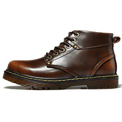 Male Versatile Soft Lightweight Ankle Top Casual BootsMens Boots<br>Male Versatile Soft Lightweight Ankle Top Casual Boots<br><br>Closure Type: Lace-Up<br>Contents: 1 x Pair of Shoes, 1 x Box, 1 x Dustproof Paper<br>Function: Slip Resistant<br>Materials: Leather, TPR<br>Occasion: Rainy Day, Riding, Shopping, Sports, Tea Party, Party, Outdoor Clothing, Casual, Daily, Dress, Formal, Holiday, Office<br>Outsole Material: TPR<br>Package Size ( L x W x H ): 33.00 x 24.00 x 13.00 cm / 12.99 x 9.45 x 5.12 inches<br>Package Weights: 1.10kg<br>Pattern Type: Solid<br>Seasons: Autumn,Spring,Winter<br>Style: Modern, Leisure, Formal, Fashion, Comfortable, Casual, Business<br>Toe Shape: Round Toe<br>Type: Boots<br>Upper Material: Leather