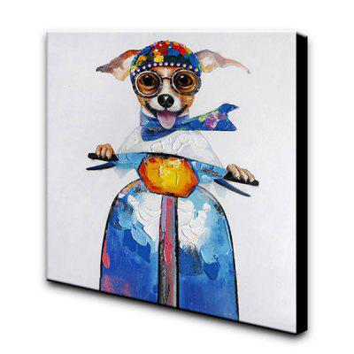 YHHP Hand-painted Dog Canvas Oil Painting DecorationOil Paintings<br>YHHP Hand-painted Dog Canvas Oil Painting Decoration<br><br>Brand: YHHP<br>Craft: Oil Painting<br>Form: One Panel<br>Material: Canvas<br>Package Contents: 1 x Oil Painting<br>Package size (L x W x H): 82.00 x 82.00 x 5.00 cm / 32.28 x 32.28 x 1.97 inches<br>Package weight: 2.0000 kg<br>Painting: Include Inner Frame<br>Product size (L x W x H): 80.00 x 80.00 x 3.00 cm / 31.5 x 31.5 x 1.18 inches<br>Product weight: 1.1000 kg<br>Shape: Square<br>Style: Funny, Cute<br>Subjects: Animal<br>Suitable Space: Bedroom,Cafes,Dining Room,Hallway,Hotel,Living Room,Office